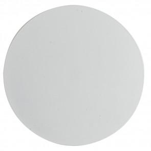 LED-ECLISSE/AP30 BCO - Applique Tonda Metallo Bianco Lampada da Parete Led 11 watt Luce Naturale