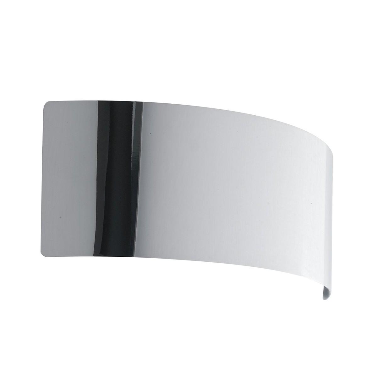 LED-DYNAMIC-AP23 CR - Applique Arcuata Metallo finitura Cromata Lampada Moderna Led 6 watt Luce Naturale