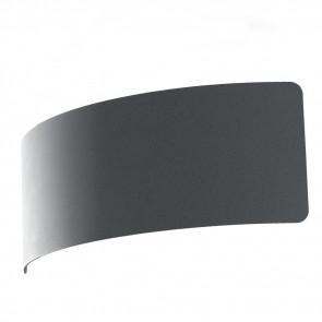 LED-DYNAMIC-AP23 GR- Applique Minimal Metallo Arcuata finitura Grigio Pietra Moderna Led 6 watt Luce Naturale