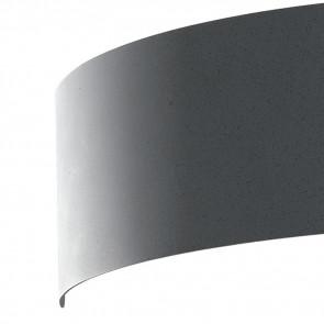 Applique Dynamic in Metallo Grigio Luce Led Larghezza 23 cm