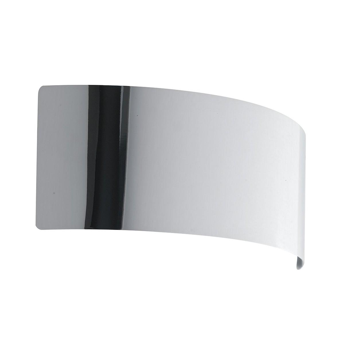 LED-DYNAMIC-AP32 CR - Applique Arcuata Metallo Cromato Lampada da Parete Moderna Led 8 watt Luce Naturale