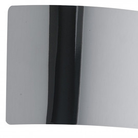 Applique murale dynamique en métal chromé de 32 cm de large