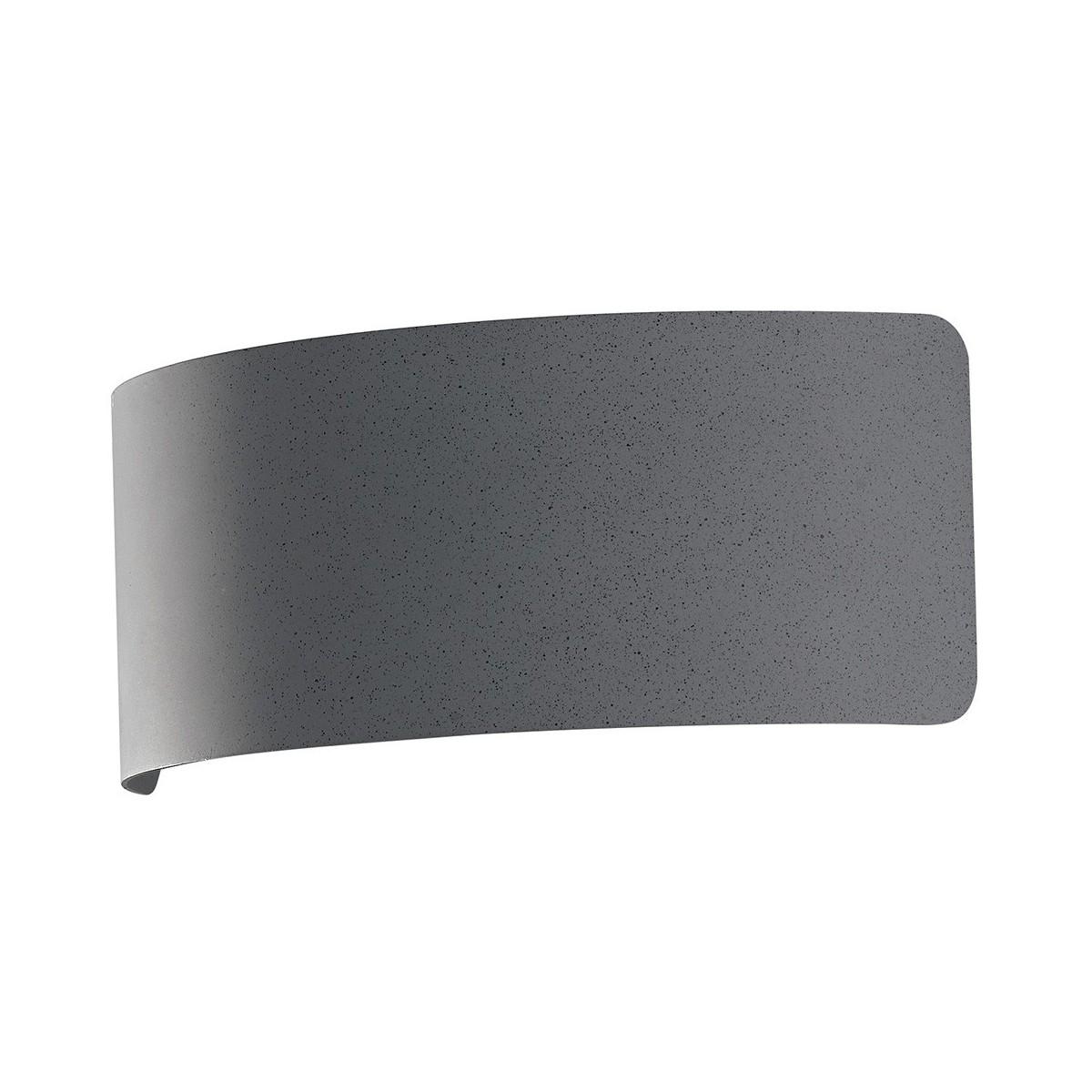 LED-DYNAMIC-AP32 GR - Applique Moderna Arcuata Metallo Finitura Grigio Pietra Led 8 watt Luce Naturale