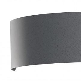 Applique Dynamic in Metallo Grigio Luce Led Larga 32 cm