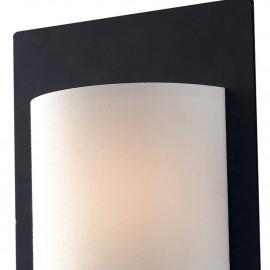 Applique Pop in Metallo Struttura Nera Paralume Bianco