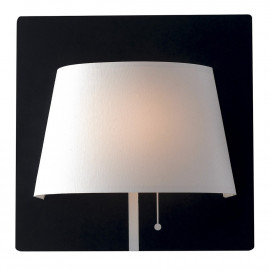 LED-WHAROL-BW - Applique Murale en Métal Noir Abat-Jour Blanc Lampe Led Moderne 6 watts Lumière Naturelle