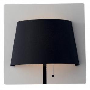 Applique Lampada da Parete Moderna Metallo Bianco Paralume Nero Led 6 watt Luce Naturale
