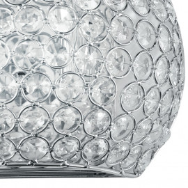 Décoration de cercles en métal avec la ligne Planet de cristaux K9