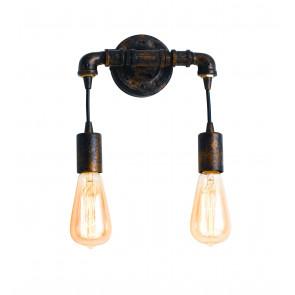 I-AMARCORD-AP2 - Applique Metallo Invecchiato Lampada da Parete Rustico Vintage E27