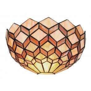 I-LIBERTY-AP - Applique Lunette Verre Coloré Décoration Géométrique Lampe Classique E27