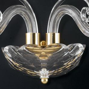 Struttura in Cristallo con Finiture Oro e Decoro a Ricciolo Linea Epoque FanEurope