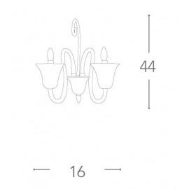 I-PALACE/AP2 - Applique Classica Vetro Ultra Trasparente Lampada da Parete E14