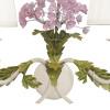 Struttura in Metallo Bianco con Fiori Decorati a Mano Linea Ortensia Fan Europe