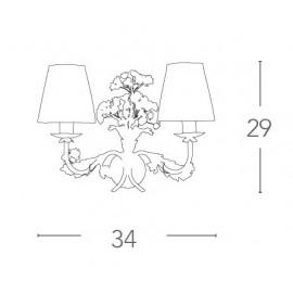 Applique Ortensia in Metallo Bianco con Fiori di Ortensia Artigianali FanEurope