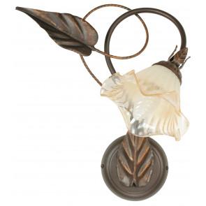 I-AUTUMN / AP1 - Applique en cuivre Diffuseur en métal Verre Décoration à la main Floral Classic Lamp E14