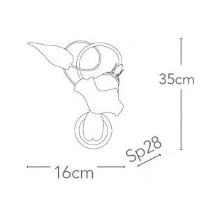 I-AUTUNNO/AP1 - Applique Rame Metallo...