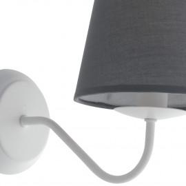 Applique avec abat-jour en tissu gris et structure en métal blanc Lampe FanEurope Fairy Tale
