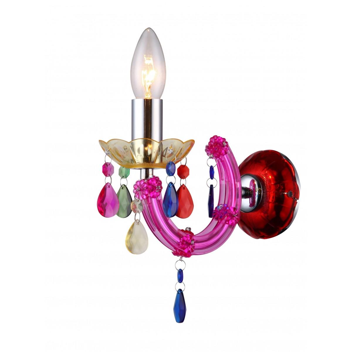 I-HOUSTON-AP COL - Applique Pendagli Gocce Acrilico Mlticolor Lampada da Parete Moderna E14