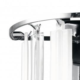 Applique Franklyn avec structure en métal et décoration de bandes en acrylique