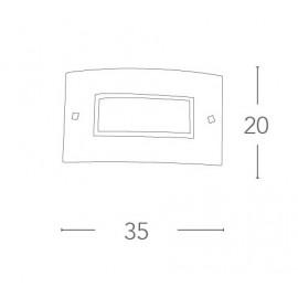Applique Trilogy Rettangolare 35x20 cm in Vetro con Bordo Cromo e Decoro Centrale in Cristalli FanEurope