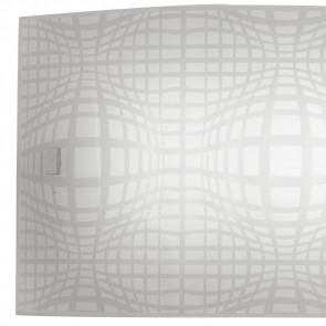 Diffusore in Vetro Bianco con Decoro a Rete Grigio Linea Project