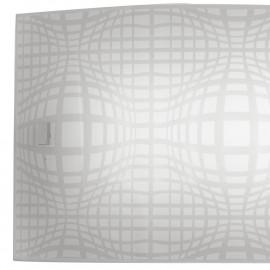 Diffuseur en verre blanc avec ligne de projet de décoration en filet gris
