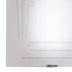 Diffusore in Vetro Bianco con Decoro Glitterato Applique Concept FanEurope