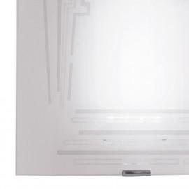 Diffuseur en verre blanc avec décoration murale scintillante Concept FanEurope