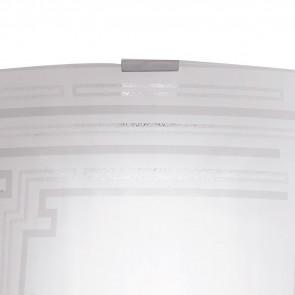 Applique con Decoro Glitterato su Vetro Bianco CONCEPT