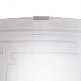 Applique avec décoration scintillante sur verre blanc CONCEPT