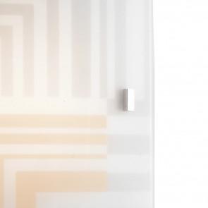 Diffusore in Vetro Bianco con Decoro Grigio e Marrone Linea Seventy FanEurope