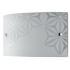 Applique Murale Rectangulaire en Verre Blanc Design Fleurs Intérieur Moderne 16 Watts Lumière Naturelle