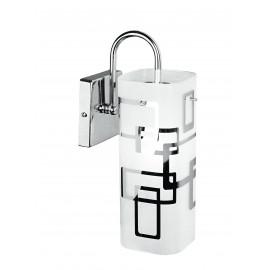 I-TEOREMA-CIL / AP - Diffuseur d'applique Décoration en verre blanc Peintures Chrome Lampe Moderne E27