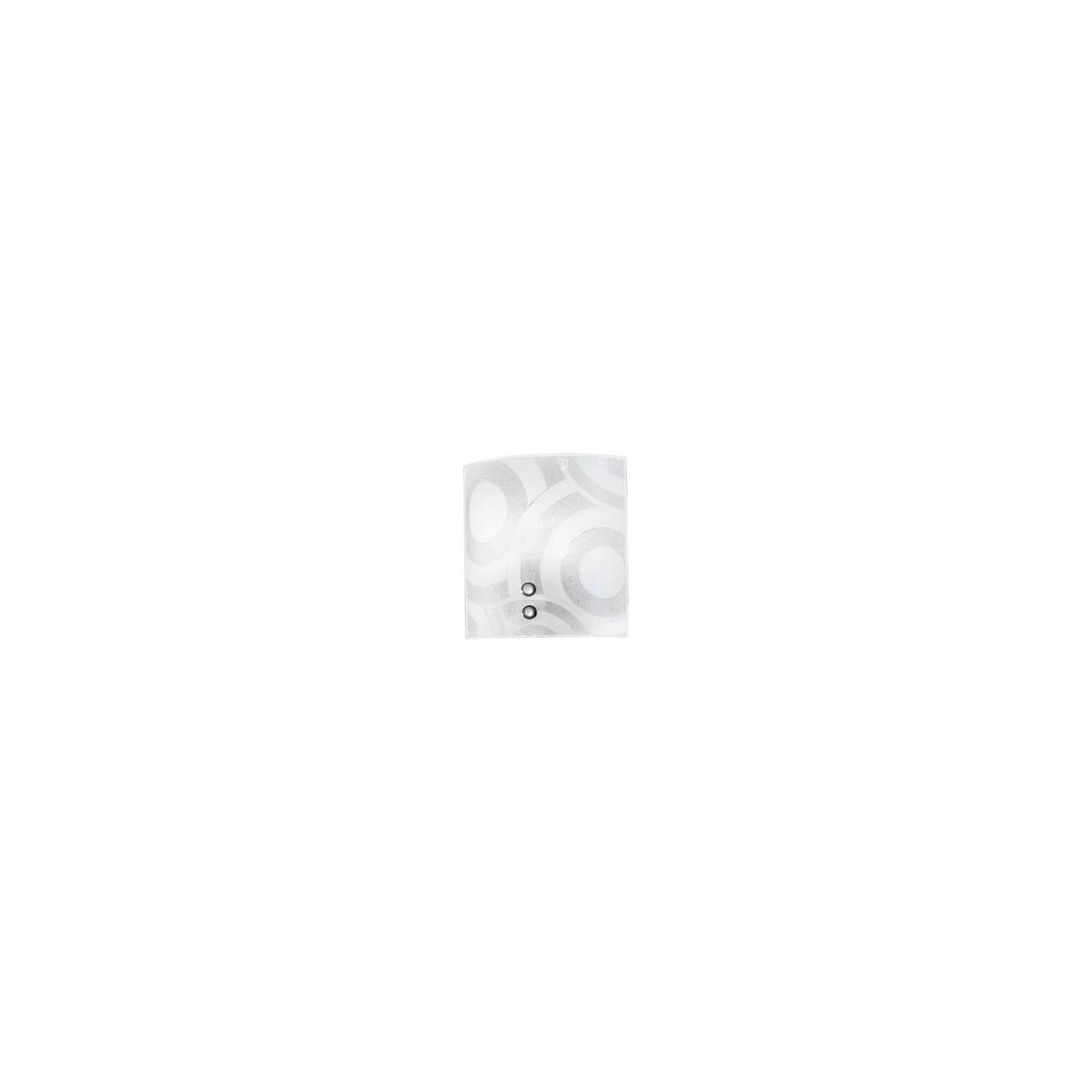 I-MIRO/AP - Applique Quadrata decoro Cerchi Vetro Graniglia Lampada da Parete Moderna E27
