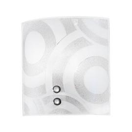 I-MIRO / AP - Applique murale carrée avec cercles en verre grain décoration murale moderne E27