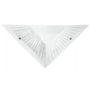 Applique Triangolare  Vetro Diamantato decoro Raggi Interno Moderno E27