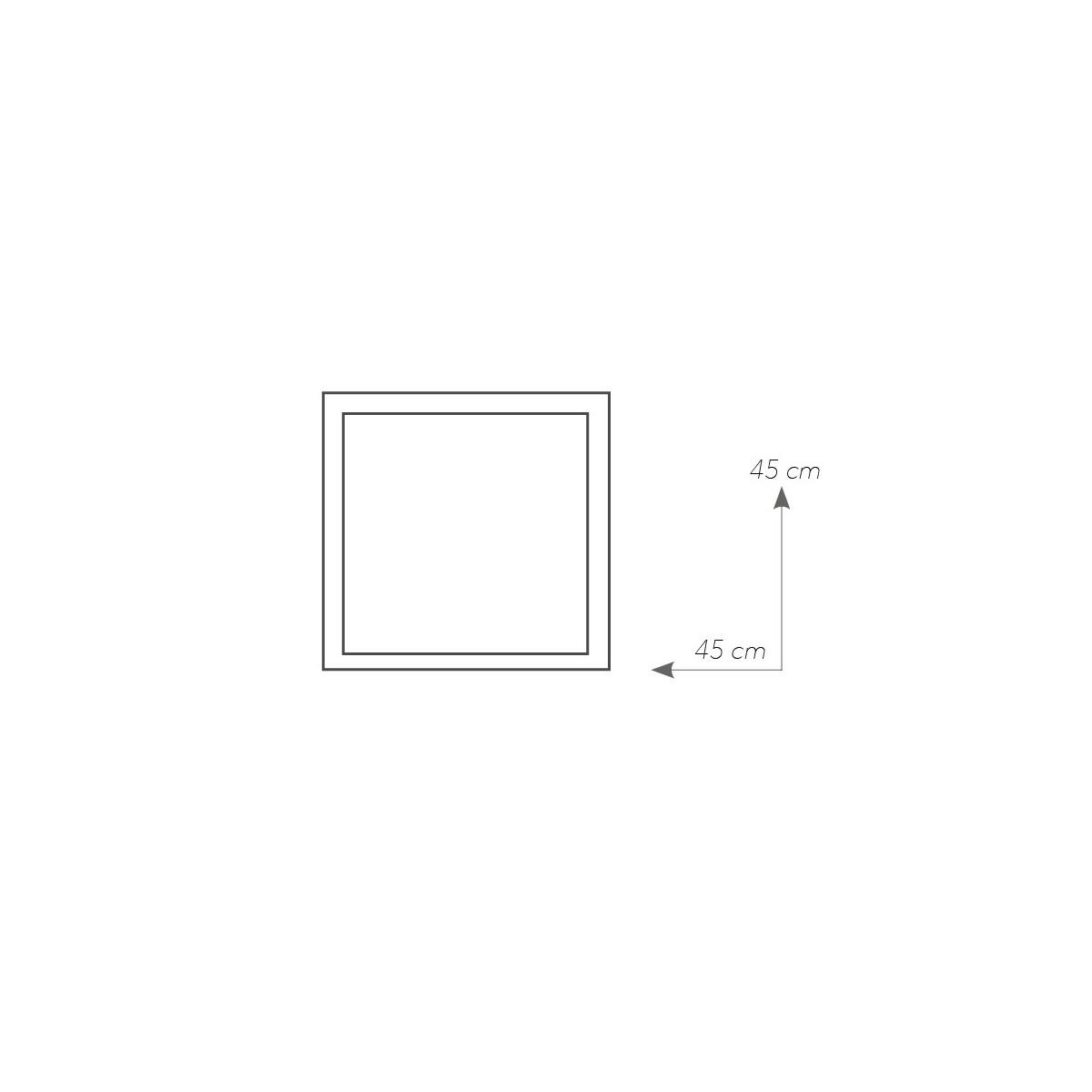I-GLAMOUR/PL45Q - Plafoniera Vetro Bianco Quadrata Cornice Scacchi Moderna Led 24 watt Luce Naturale