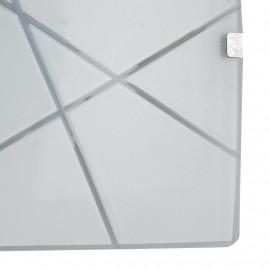 Diffuseur en verre blanc avec décoration géométrique gravée Alexia FanEurope Line