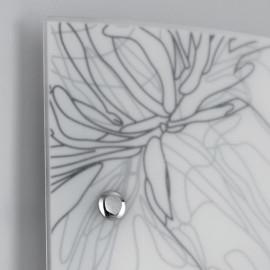 Diffuseur en verre avec décoration florale gris blanc Matisse Line FanEurope