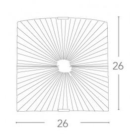 I-CHANTAL/AP - Applique Vetro Diamantato decoro Raggi Rettamgolare Led 12 watt Luce Naturale