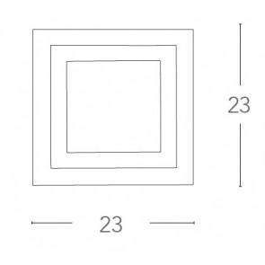 I-OAK / AP - Applique murale carrée...