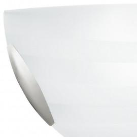 Diffusore in Vetro Bianco con Decoro Satinato a Fasce Applique Kuna FanEurope