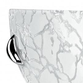 Diffusore in Vetro Bianco con Decoro Cromato Applique Ghiaccio FanEurope