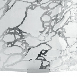 Diffusore in Vetro Bianco con Decoro Cromato Applique 26x26 cm Ghiaccio FanEurope