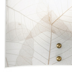Applique carrée à décor de feuilles...
