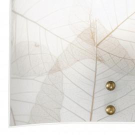 Eden FanEurope - Applique murale à décor de feuilles brunes