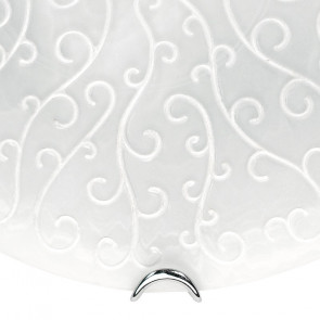 Diffusore in Vetro Satinato con Decoro a Ricamo Bianco Applique Ricamo Fan Europe