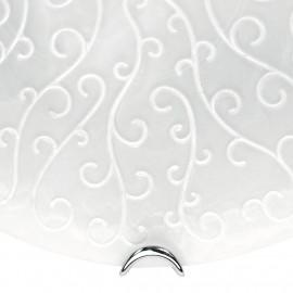 Diffuseur en verre satiné avec décoration de broderie blanche Applique broderie Fan Europe
