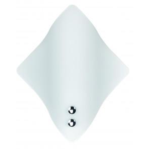 64/01712 - Applique Rombo Vetro Bianco Semplice Lampada Moderna E27