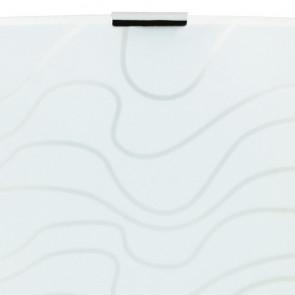 Applique murale carrée en verre blanc...